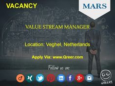 Our client MARS is looking for a Value Stream Manager (http://www.qreer.com/jobs/view/8015/) in Veghel, Netherlands. The position requires a Master's or PhD degree in Mechanical Engineering with Approximately 10 years of experience in a supply chain environment: broad manufacturing experience (i.e. logistics, engineering); understanding of lean manufacturing; basic technical skills.   #mars, #stream, #manager, #mechanical, #chain, #logistics.