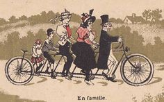 Tandem Bicycle, Bicycle Art, Bulletins, Tour, Old School, Cycling, Posters, Graphics, France