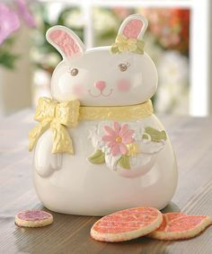 Another great find on #zulily! Sweet Tales Bunny Cookie Jar by Amscan #zulilyfinds