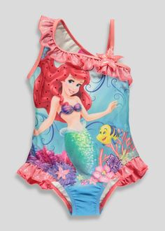 Kids Disney Ariel Swimsuit (2-9yrs) View 1