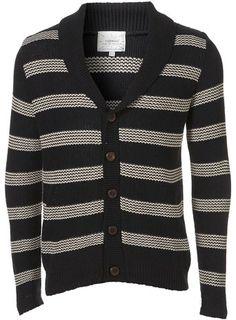 Navy Stripe Cardigan ... so cute for winter!