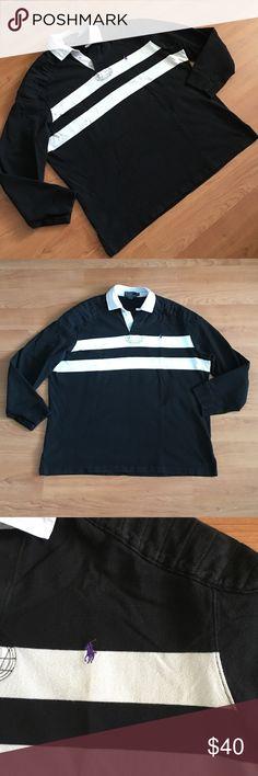 """Polo Ralph Lauren L/S polo shoulder & elbow patch Great Polo Ralph Lauren long sleeve polo shirt with shoulder & elbow patches. Size XL. Armpit to armpit- 25"""" shoulder to shoulder- 20.5"""" neck to bottom- 28"""". In great condition. Thank you! Polo by Ralph Lauren Shirts Polos"""