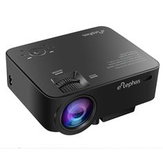 ELEPHAS 1500 Lumens Home Theater Projector, 1080P Portable Mini Video Projector for Home Cinema Theater Entertainment Games Parties, Black