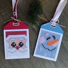 Latest Trend in Paper Embroidery - Craft & Patterns Cross Stitch Christmas Ornaments, Xmas Cross Stitch, Cross Stitch Cards, Christmas Cross, Stitching On Paper, Cross Stitching, Cross Stitch Embroidery, Cross Stitch Patterns, Paper Embroidery