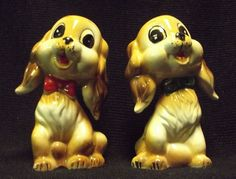 #Commodore #Japan Salt and Pepper Shakers #CockerSpaniel Dogs