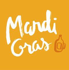 Happy Mardi Gras! lettering by Carole Chevalier