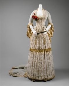 Ball gown, c.1880 Think how fabulous this gown must have looked in its day!