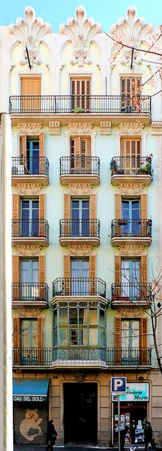 de Prat 017 a Art Nouveau, Art Deco, Iron Work, Art And Architecture, The Row, Houses, Windows, Doors, Colour