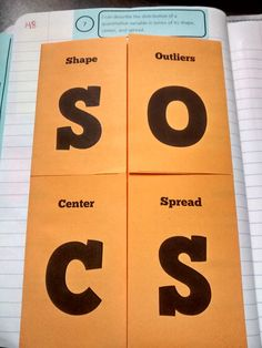 Math = Love: Knocking their SOCS off in stats (Shape, Center, Spread, etc!)