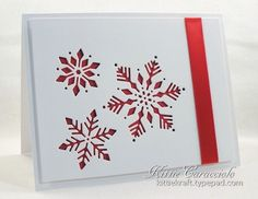 KC Impression Obsession Snowflake Cutout 2 right Homemade Christmas Cards, Christmas Cards To Make, Xmas Cards, Handmade Christmas, Homemade Cards, Holiday Cards, Christmas Diy, Christmas Vacation, Cards Diy