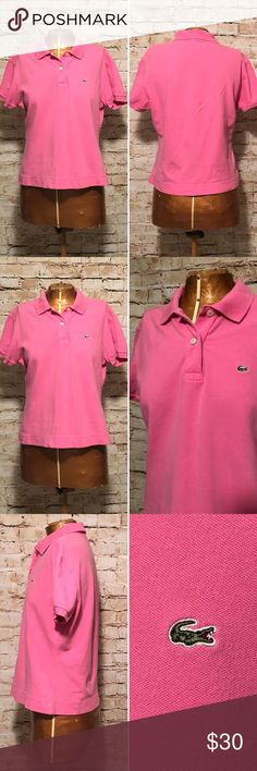 "Lacoste Classic Petit Pique Polo Shirt EUC CHEST MEASUREMENT  34"" WAIST  MEASUREMENT  32 c1d82619f42d1"