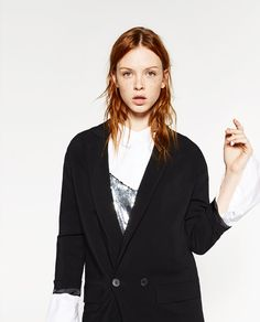 Image 2 of LONG LOOSE FIT BLAZER from Zara