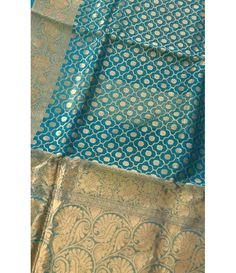 Blue Handloom Banarasi Pure Katan Silk Saree