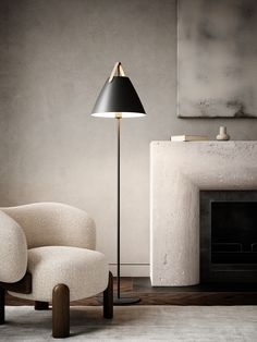 Metal and leather go well with the light Nordic style. The combination of these materials allows the light to visually interact with a modern interior, where combining materials is one of the biggest trends. The narrow and elegant leather gives Strap a warm and raw look, balancing a classic and the industrial expression. #Living Room #Interior Design #Inspiration #Décor Ideas #Nordic #Danish Design #Scandinavian #Modern #Minimalist #Industrial #Cozy #Floor Lamp #Lighting Scandinavian Interior Living Room, Swedish Interior Design, Nordic Living Room, Industrial Interior Design, Scandinavian Modern, Home Room Design, Interior Design Living Room, Living Room Designs, Room Interior