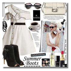 """#338 ~ Walk This Way: Summer Booties"" by cresentia-titi ❤ liked on Polyvore featuring self-portrait, Furla, Rupert Sanderson, Fendi, Chanel, Prada, 30 and summerbooties"