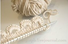 Very cool picot cast on and fabulous collection of knitting tutorials from  fiberfarm.
