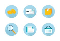 Light blue icons for personal and commercial use.