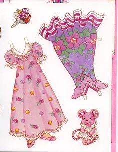 Peppermint Rose paper doll card #5