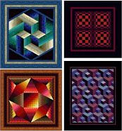 WOW.  FREE dimensional quilt patterns by Jinny Beyer