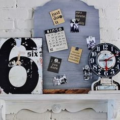how to make a faux zinc memo board, carpentry  woodworking, diy home crafts, painting, The memo board is the perfect place to display photos It can be hung on the wall or displayed on a shelf