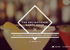 The Enlightened Happy Hour: An Interactive Guide to What You're Sipping. Pretty unreal: via @COLUMN FIVE + Visual News.