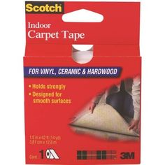 Shop for Scotch General Purpose Carpet Tape. Get free delivery On EVERYTHING* Overstock - Your Online General Office Supplies Destination! Diy Carpet, Rugs On Carpet, Carpets, Scotch, Carpet Squares, Cream Area Rug, Vinyl Flooring, Throw Rugs, Shopping Hacks