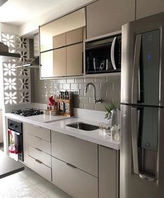 70 Clever Tiny House Interior Design Ideas – decorationroom - New ideas Kitchen Room Design, Home Decor Kitchen, Kitchen Furniture, Kitchen Interior, Interior Design Living Room, Cuisines Design, Small Living Rooms, Kitchen Remodel, Sweet Home