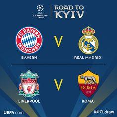 Blog Esportivo do Suíço:  Sorteio define semifinais da Liga dos Campeões com Real x Bayern e Roma x Liverpool