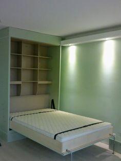 Pisztácia-mogyoróval: ágyszekrény egy fiuszobába-Egyetelen mozdulattal válik a tér éjszakára hálószobává. Közvetlenül a gyártótól- közel 20 éves tapasztalat és referenciával. Nagyfokú forma, szín és méret választék. Bed, Furniture, Home Decor, Home Furnishings, Interior Design, Home Interiors, Decoration Home, Beds, Tropical Furniture
