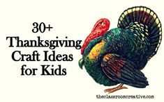 Lots of gobbling turkey crafts for you to make this Thanksgiving! #turkey #craft