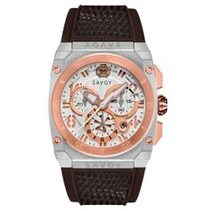 Savoy Midway Swiss Made Quartz Chrono Black IP Black – Brown leather croco pattern Swiss Made Watches, Modern Watches, Stainless Steel Case, Gold Watch, Chronograph, Black And Brown, Bracelet Watch, Brown Leather, Quartz