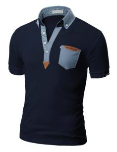 Doublju Mens Polo T-shirts with Short Sleeve