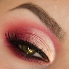 Hot Cut Crease Makeup Tutorial by aGwer. Makeup Geek Eyeshadow in Cherry Cola, Corrupt, Poppy and Tuscan Sun. Makeup Geek Foiled Pigment in Illusion. Makeup Geek Full Spectrum Eye Pencil in Plumeria.