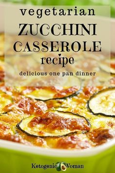 This easy vegetarian zucchini gratin casserole is full of vegetables and hits all the low carb buckets. Try this healthy keto recipe with all kinds of shredded cheesy goodness today! Zucchini Casserole, Zucchini Gratin, Casserole Recipes, Lunch Recipes, Low Carb Recipes, Dinner Recipes, Healthy Recipes, Healthy Eats, Easy Recipes