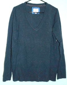 Ladies V-Neck Sweater by Old Navy  Navy Blue  Sz by ForHerEarsOnly