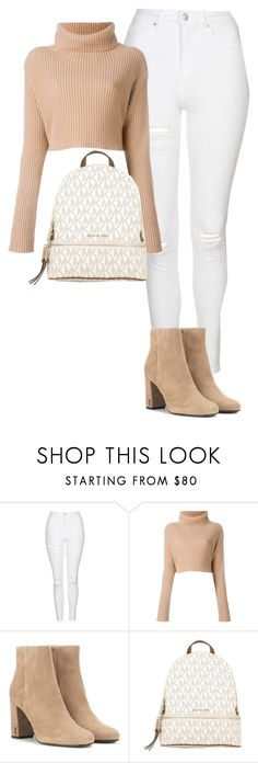 """""""Untitled #1738"""" by gracerosborough ❤ liked on Polyvore featuring Topshop, Yves Saint Laurent and MICHAEL Michael Kors"""