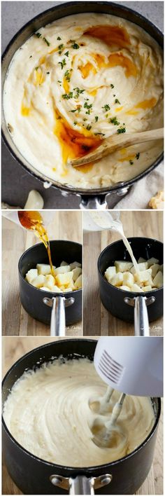 Garlic and Parmesan Browned Butter Mashed Potatoes | http://cafedelites.com