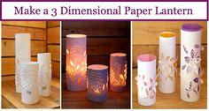 Make a 3 Dimensional Paper Lantern - http://www.diyscoop.com/make-a-3-dimensional-paper-lantern/