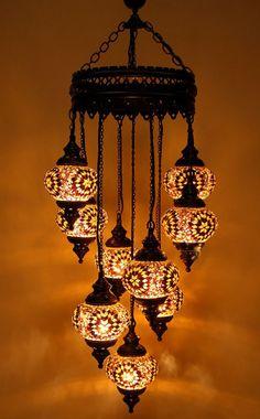 9 Balls Turkish Mosaic chandelier lamp NEW
