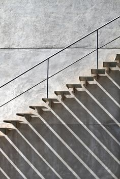 black and white, photography, architecture, stairs, shadows Minimal Photography, Shadow Photography, Abstract Photography, White Photography, Modern Staircase, Staircase Design, Stair Handrail, Railings, Handrail Ideas