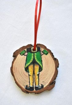 Items similar to Custom Christmas Ornament: Buddy the Elf on Etsy Custom Christmas Ornaments, Christmas Wood, Homemade Christmas, Painted Ornaments, Ornaments Design, Homemade Ornaments, Diy Ornaments, Christmas Paintings, Elf Products