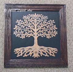 Tree Of Life   Scherenschnitte  Hand Paper by ArtGalleryRiverRd, $69.00