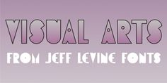 Visual Arts JNL font download