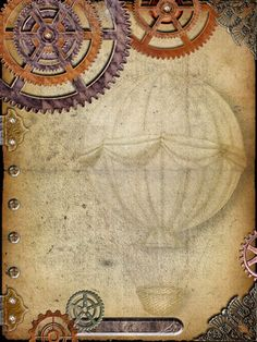 Steampunk Digital Journal/Scrapbook Page by aprilmartin on Etsy,