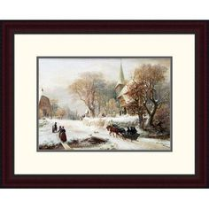 Global Gallery 'Going to Church' by Hermann Kauffmann Framed Painting Print Size: