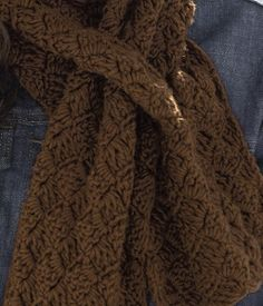 Free Crochet Keyhole Scarf Pattern  Love the pattern.  . I made this, with Bernat Satin, into an eternity scarf w/out the key holes and I love it.  Didn't like it with the key holes when I made the first one.