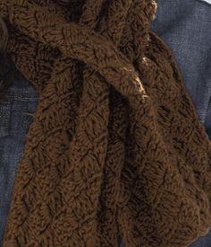 Free Crochet Keyhole Scarf Pattern.