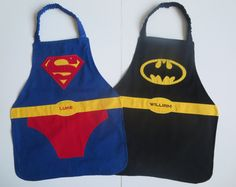 BATMAN and SUPERMAN apron set