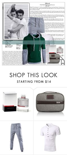 """""""Rosegal 68/ II"""" by emina-095 ❤ liked on Polyvore featuring Prada, Tumi, men's fashion, menswear, polyvoreeditorial and rosegal"""