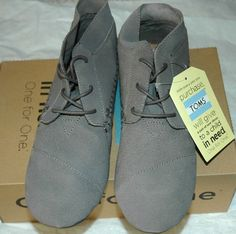 TOMS Women's Tribal Boot Grey Suede Size 10 #TOMS #AnkleBoots #Casual